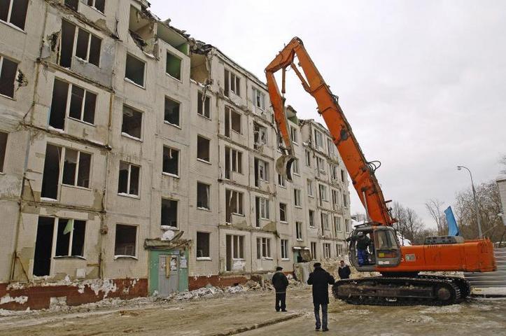 Планов по сносу пятиэтажных